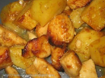 Όρεξη να χεις .../Oreksi na xeis: Λεμονομουσταρδομελωμένες μπουκιές κοτόπουλου με πατάτες