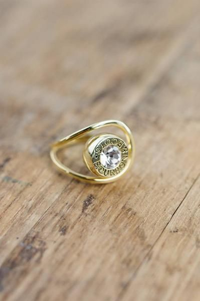 Bullet Ring- Available in silver and gold. #bourbonandboots #madeinthsouth #southernliving #southernstuff #southerngifts #valentinesgiftforher #valentinesday #forher #ring #jewelry #southernjewelry
