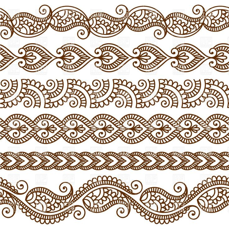 Vector image of Borders and frames in mehndi style - ethnic ornament #28528 includes graphic collections of decorative, border and frame. You can download this image in EPS and JPG format.