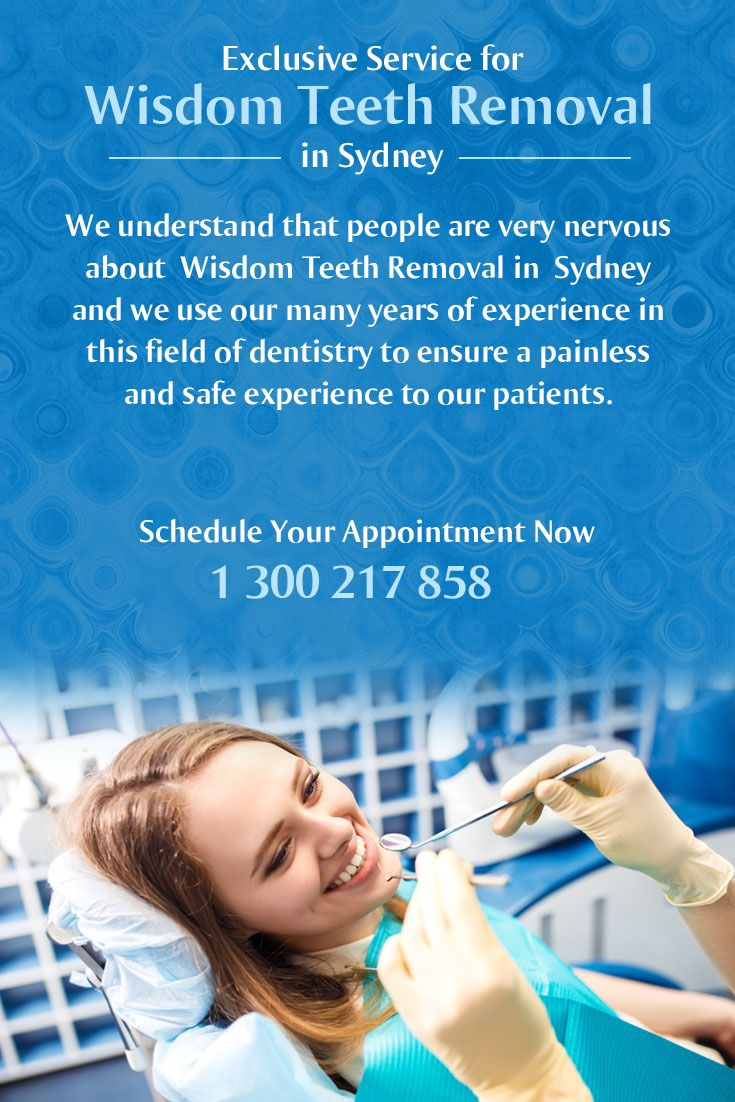 We understand that people are very nervous about #Wisdom_Teeth_Removal in #Sydney and we use our many years of experience in this field of dentistry to ensure a painless and safe experience to our patients.