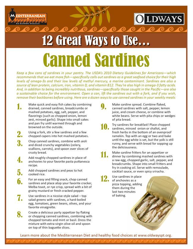 Sardines:  fabulous little fish that we often wonder how to prepare. To help, Oldways has created a new resource that offers 12 great ways to prepare sardines!