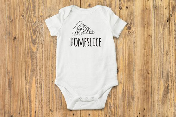 Homeslice Pizza Baby Onesie® Boho Baby Clothes by BittyandBoho