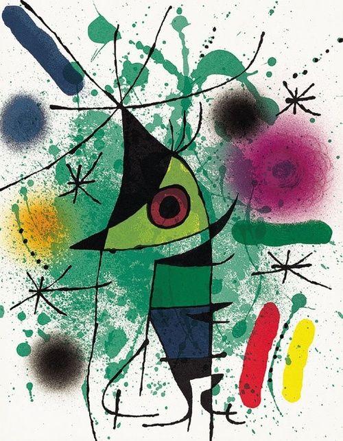 This makes me smile. {The Singer - Joan Miro}