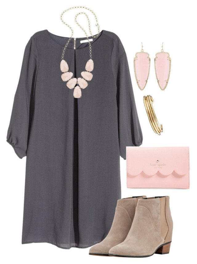 """""""Wednesday- contest entry """" by madelyn-abigail ❤ liked on Polyvore featuring H&M, Golden Goose, Kendra Scott, Jennifer Fisher, Kate Spade, women's clothing, women's fashion, women, female and woman"""