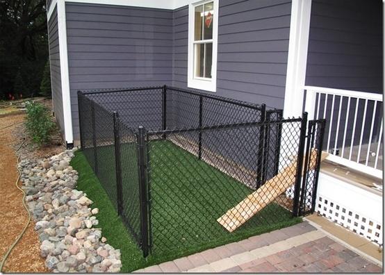 A Small Very Small Backyard Dog Run Right Off The Porch