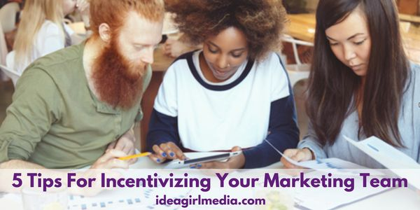 5 Tips For Incentivizing Your Marketing Team   The keys to a solid marketing team structure your employees will love + will also reward YOU   Want to increase revenue? The key is happy employees & contractors that feel appreciated. Here are 5 tips for incentivizing your marketing team to keep growing your bottom line…   ideagirlmedia.com/business-growth/incentivize-marketing-team/  👩🏼💻📊📱💡💼💰