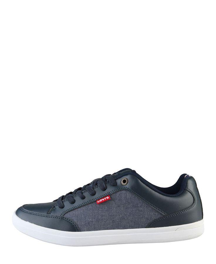 Levi's scarpe uomo - sneakers stringate basse - tomaia in materiale sintetico e tessuto - interno tessuto, suola gom - Sneaker uomo Blu