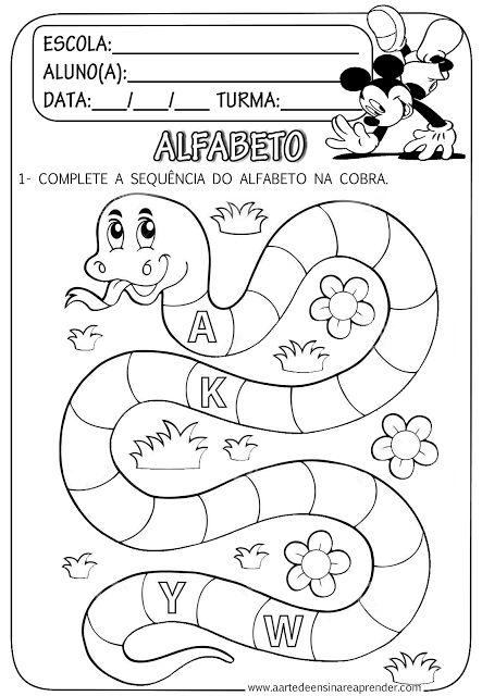 Atividade pronta - Sequência do alfabeto                                                                                                                                                                                 Mais