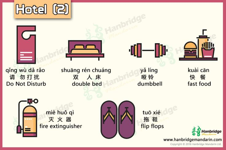 Chinese vocabulary of hotel- part 2