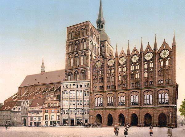 Hansa town and Unesco World Heritage Site, Stralsund. Where Merkel does her Merkelling!