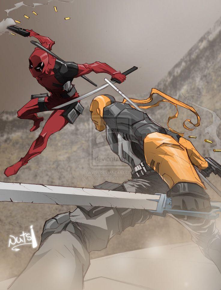 Deadpool Vs Deathstroke (Battle of the Wilsons) by madstanlee on DeviantArt