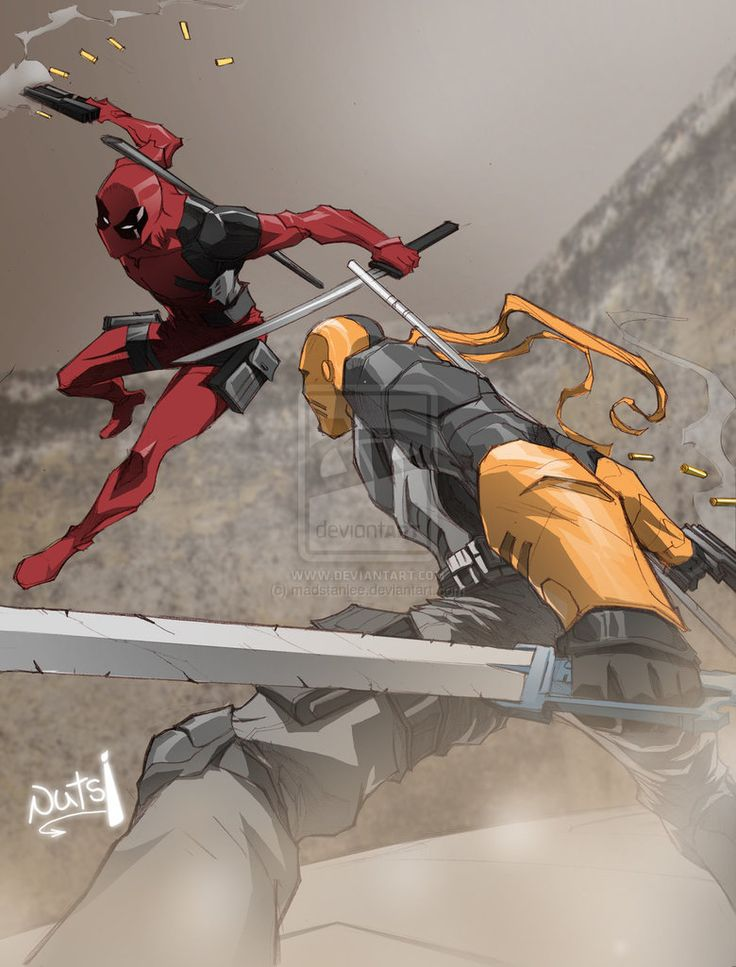 Deadpool Vs Deathstroke (Battle of the Wilsons) by madstanlee on DeviantArt