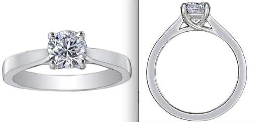 White Gold Petite Tapered Trellis Ring