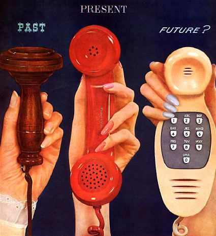 Phone Evolution: Old advertisement for Western Electric, the manufacturing arm of AT #phones #retro