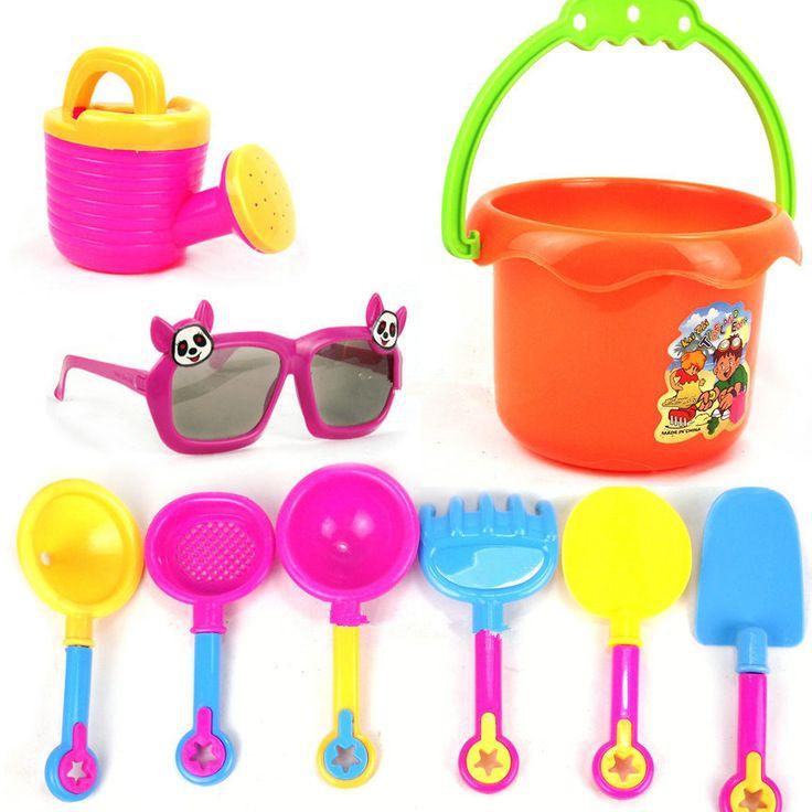Игрушки для купания пляж детские игрушки Прохладный солнцезащитные пляж для купания девять комплектов развивающие игрушки для купания копать песок, пляжные игрушки подарок