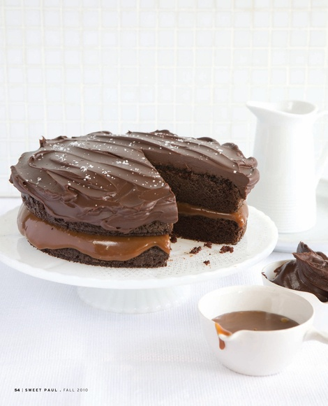 salted caramel and chocolate cake