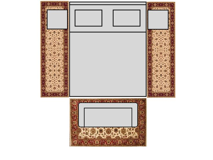 Bedroom King Size Bed With 8 Runners Amp 4x6 Rug Rugs