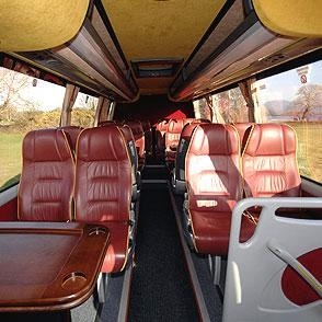 Smaller size group tours of Ireland - mini-bus interior