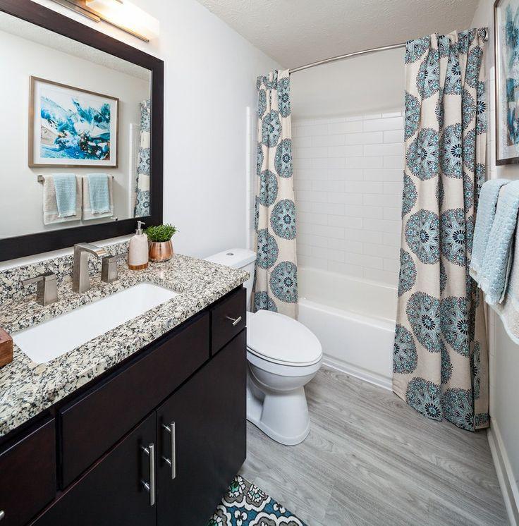 Apartment bathroom idea double extra long shower curtain