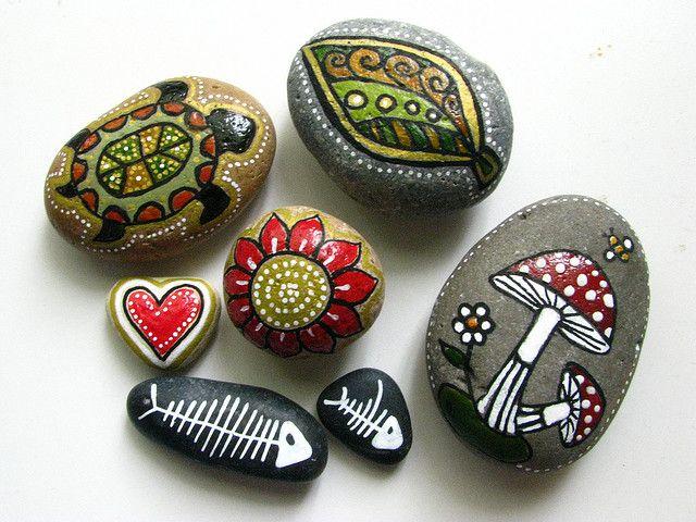 piedras decorativas manualidades - Buscar con Google