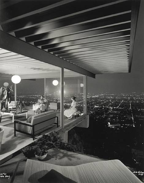 Case Study #22 by Pierre Koenig, Los Angeles, 1960.    Photo by Julius ShulmanStudy House, Cases Study, Juliusshulman, Julius Shulman, Architecture, Los Angels, Pierre Koenig, House 22, Stahl House