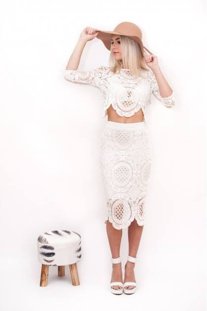 Just Arrived!  #Lioness #Gemini #lace #skirt & #crop in white   www.appletreeboutique.com.au   #atb #appletreeboutique #worldwide #shipping