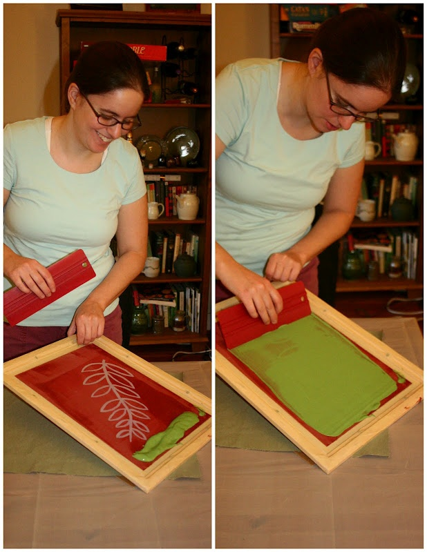 Fabric Paper Glue: P is for Printing  (screen printing process explained)
