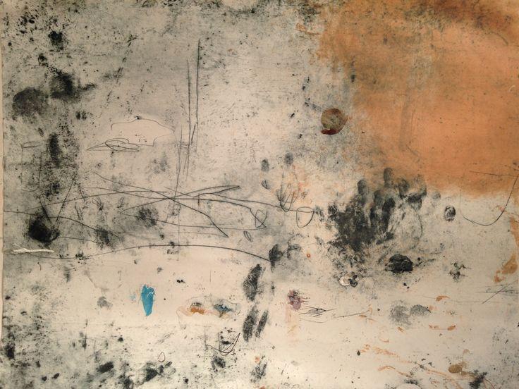 monoprint and drypoint #printmaking #etching #clarejacksonart