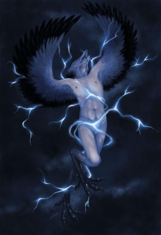 Impundulu- South African folklore: the lightning bird. It ...