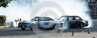 Drifting car with some smoke and noise  Photo taken: June 2016