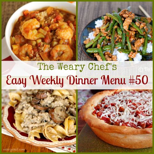 Easy Weekly Dinner Menu 50: Healthy recipes to start your year off right! #dinner