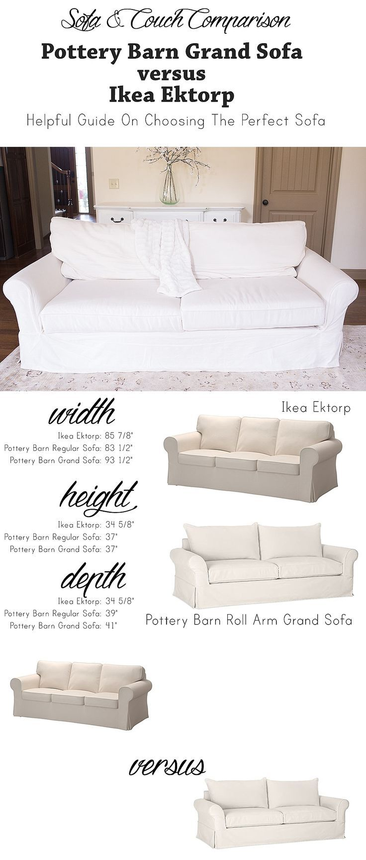 How To Choose A Sofa Ikea Ektorp Sofa Vs Pottery Barn Grand Sofa