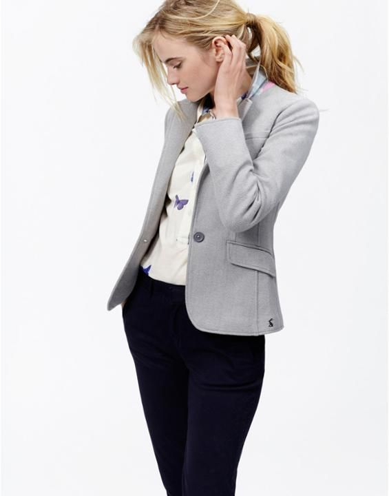 OLIVIASingle Breasted Jersey Tweed Blazer