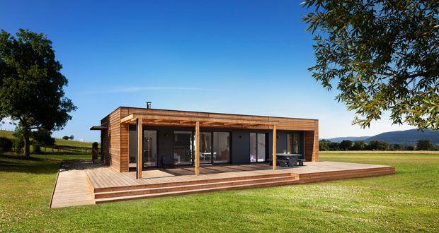 Pin by eve on Maison ossature bois toit plat Pinterest House