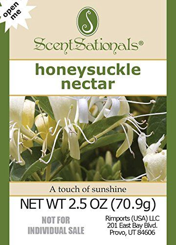 4Pack ScentSationals Honeysuckle Nectar Fragrance Scented Wax Cubes Melts  For candle warmer or electric tart warmer ** Click image to review more details.