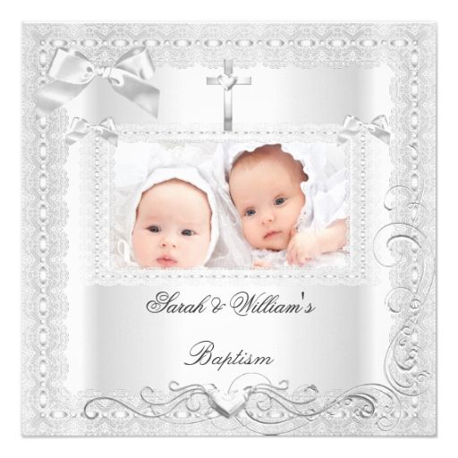 1813 best baptism christening invitations images on pinterest make your own style with this twin baby baptism girl boy christening white lace custom invite just add your photos and words to this design stopboris Gallery