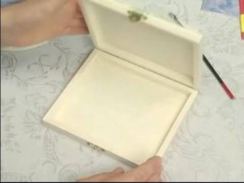 ▶ How To Decoupage : How To Decoupage A Box: Preparation (P1)