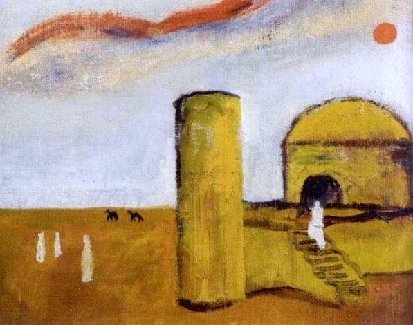Mauno Markkula: Temppeli Tunisiassa, öljy kankaalle, 47x54 cm - Artnet