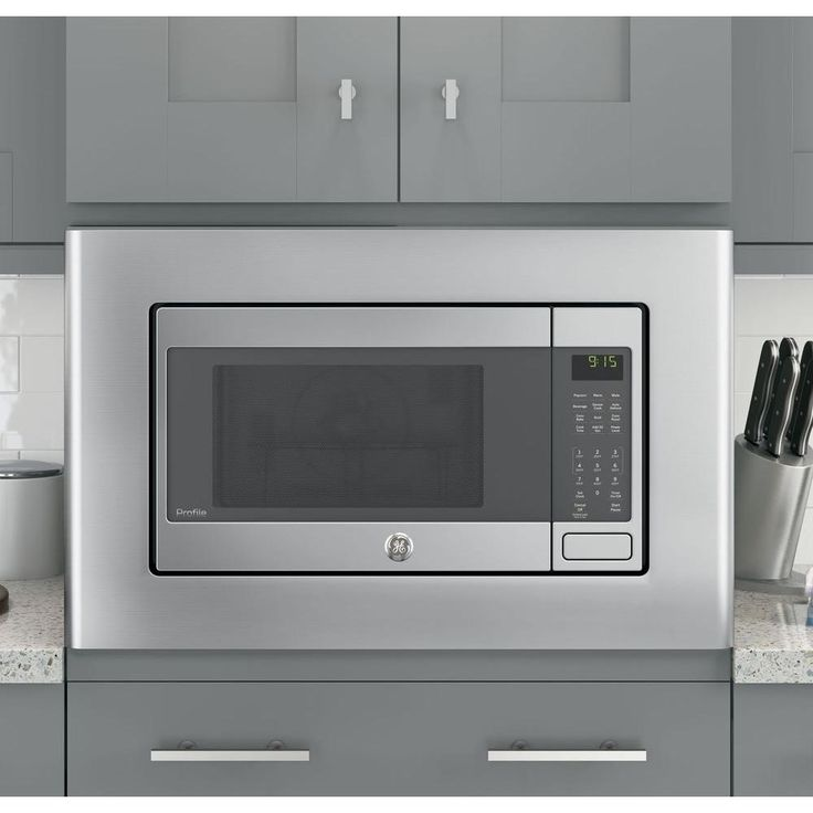 Ge Microwave Optional 30 In Built Trim Kit Stainless Steel