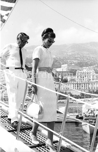 Maria Callas and Aristotle Onassis were introduced in 1957.  They took a three-week cruise along the Greek and Turkish coasts in the summer of 1959, where their notorious affair began.  (Onassis was then married to Tina Livanos.   He married Jackie Kennedy in 1968).