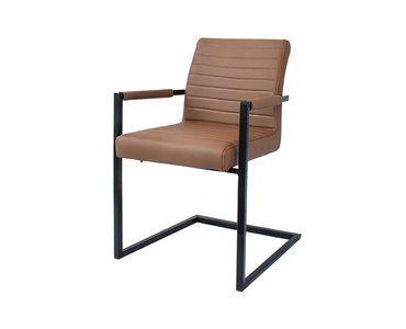 Specificaties: Afmetingen stoel HxBxD: 85cm x 54cm x 55cm, Afmeting zitting HxBxD: 51cm x 43cm x 47cm, Hoogte armleuning: 65cm, Dikte zitting: 7cm | Dikte frame: 2,5cm, Kleur: Lichtbruin, Ga...