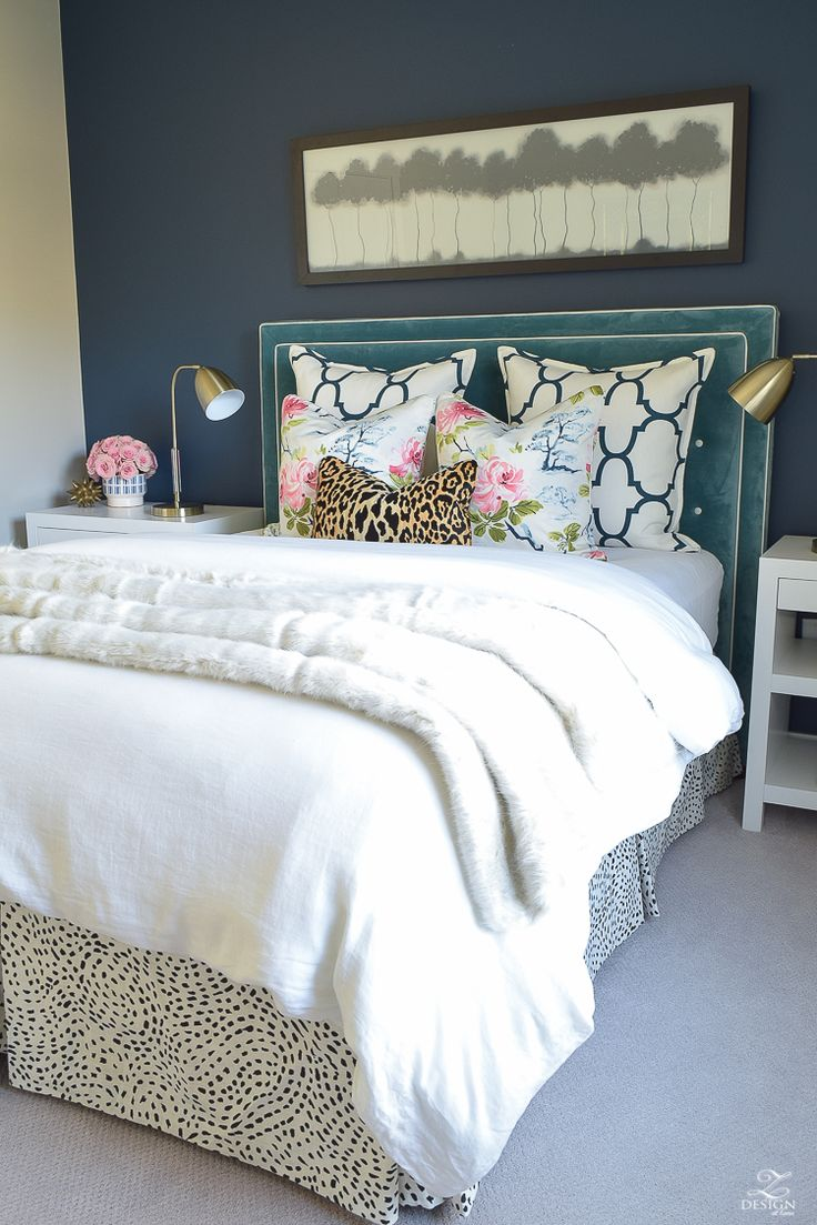 Cheetah bedroom decor - A Cozy Chic Guest Room Retreat Update Part 1