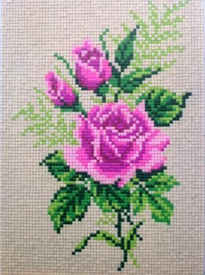 Clay Mosaic - Rose made from cross stitch pattern: Hi, I love doing clay crafts. I like experimenting with homemade clay recipes and see the possibilities of creating crafts with clay.   I would probably