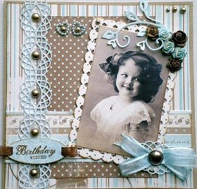 Vandaag heb ik 2 kaarten om te laten zien, allebei gemaakt met het mooie papier van Maja Design.  Een babykaartje waar ik de mooie ovale ma...