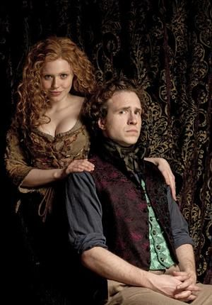 Jennie Jacques and Rafe Spall in Desperate Romantics.