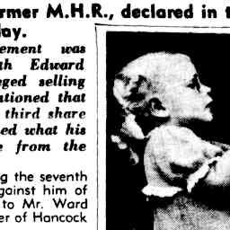 14 May 1948 - The Courier Mail Article - Roslyn Harris (Craig's mother) then 4yrs old battling for potatoes at the Brisbane Market.