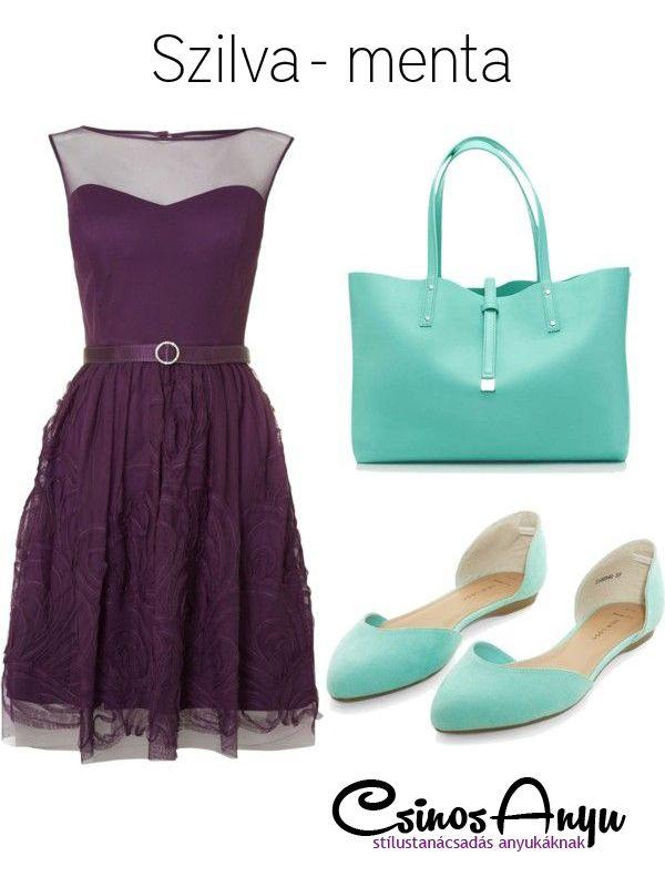 Nyári színek: szilva - menta http://csinosanyu.hu