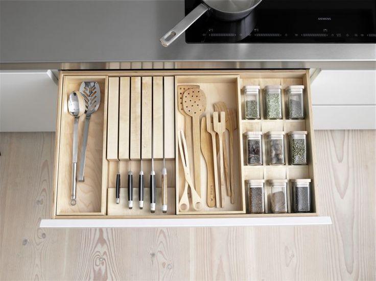 Aufbewahrung Für Besteck Und Küchenutensilien * Ideen Für Moderne Küchen *  Stauraum In Schublade * Bulthaup
