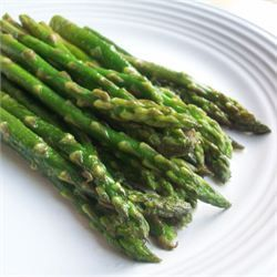 Pan-Fried Asparagus -  1/4 cup butter 2 tablespoons olive oil 1 teaspoon coarse salt 1/4 teaspoon ground black pepper 3 cloves garlic, minced 1 pound fresh asparagus spears, trimmed