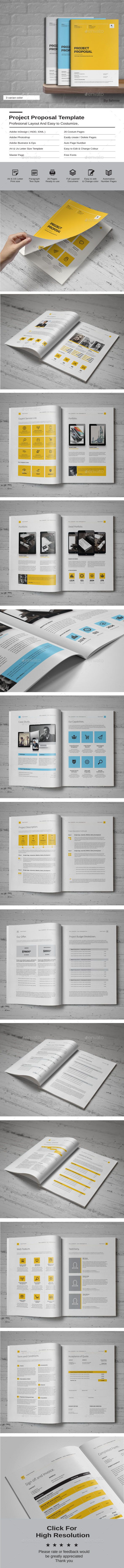 action research proposal template%0A Buy Proposal Template by fahmie on GraphicRiver  LIVE PRIVIEW YELLOW  Professional Project Proposal template for creative businesses  created in  Adobe